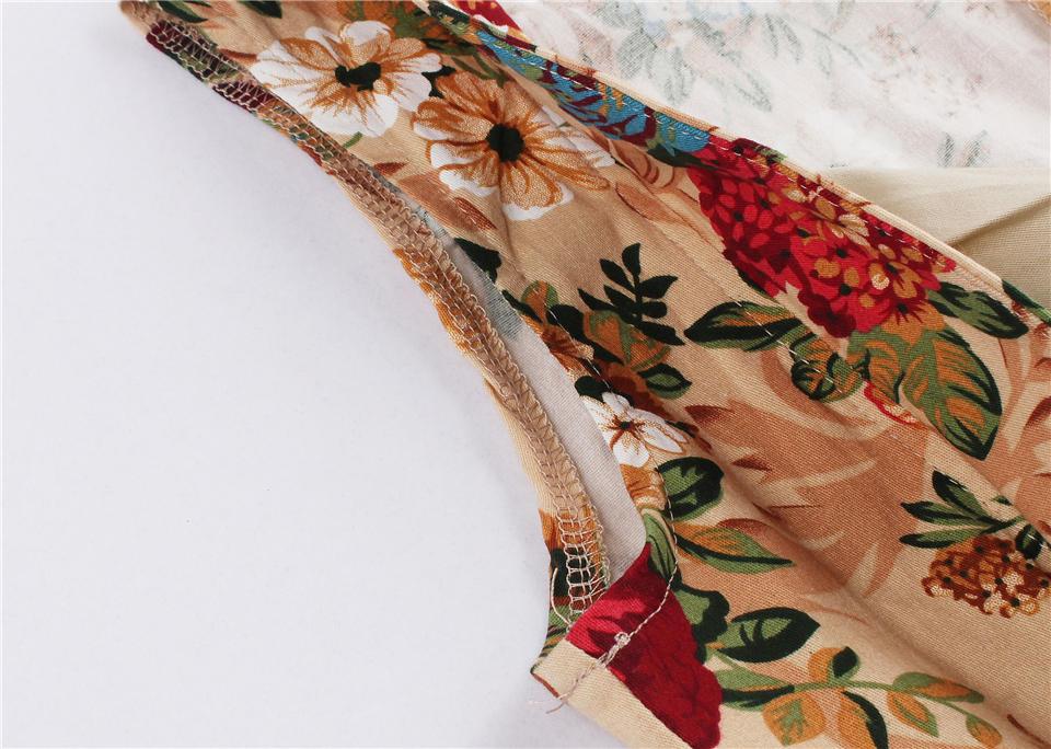 Dress Female S-4XL Bandage Lady Dress Women Spring Summer Floral Dress Female Breathable Sleeveless Sexy Vintage Dress Women