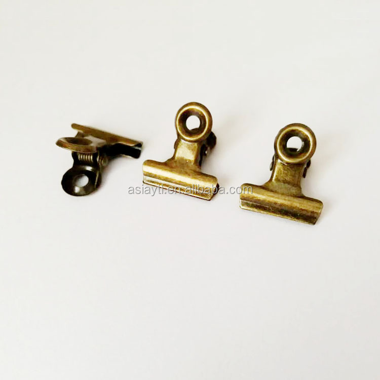 china factory bronze round metal spring clips for stationary accessories