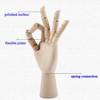 different size custom logo adjustable flexible wooden hand mannequin