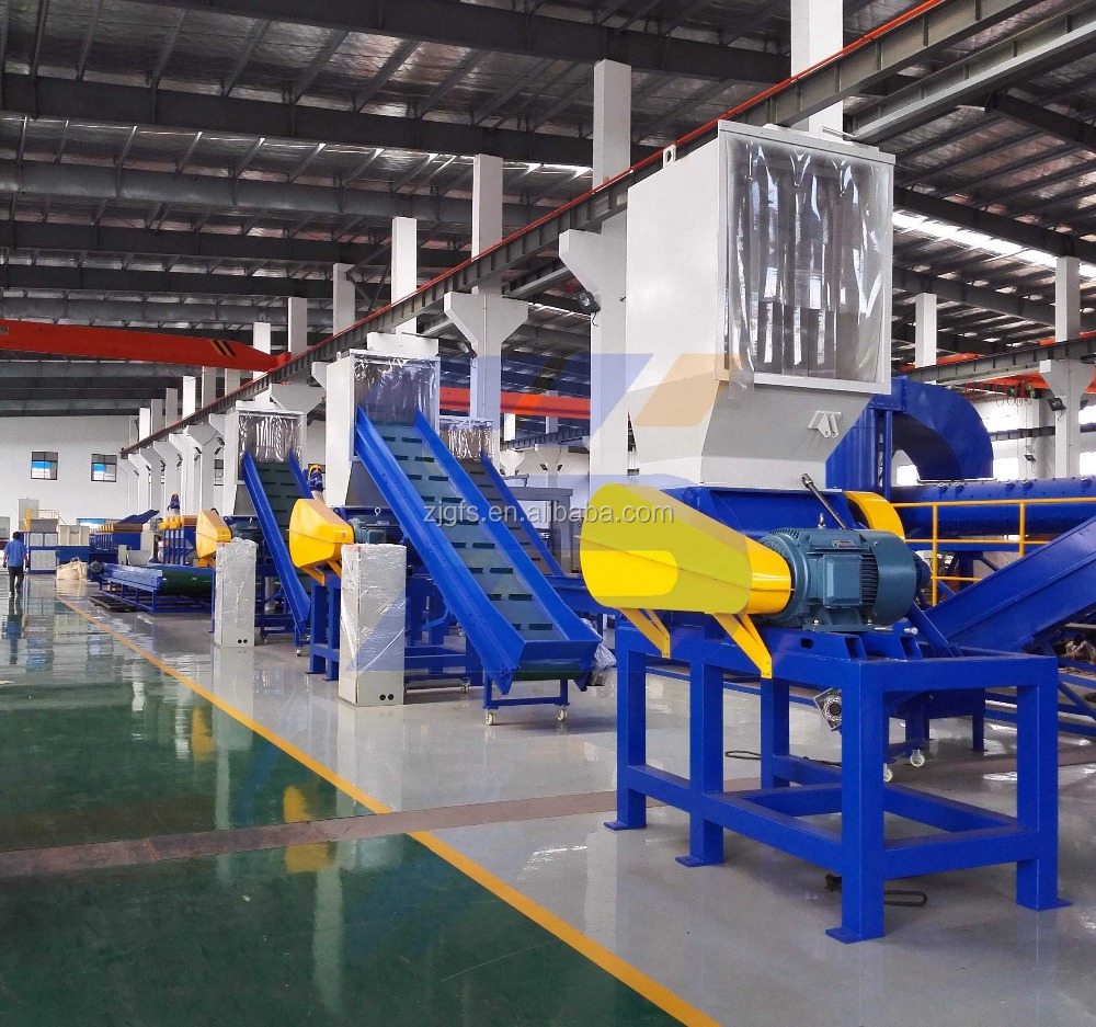 Scrap plastic crusher grinding machine for waste pet bottle, ldpe lldpe plastic film, pp woven bags