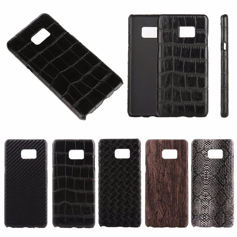 Crocodile/Snake/Wooden pattern Leather skin Hard case for samsung note 7, for note 7 case