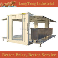 Tailor made 20ft mobile shipping container snack shop, kiosk with air / gas spring flying doors