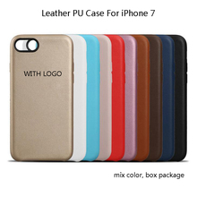 Mix Color with LOGO Wholesale Copy Original 1:1 Leather PU Back Cover Cell Phone Case For iPhone 7