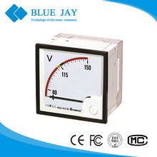 Rated Value Volt meter DC Analog Panel Meter class 1.5 Volt meter 80-420v output Panel voltage meter
