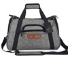 2 tones Dog bag Airline Approved 900D cation linen style luxury grey pet carrier
