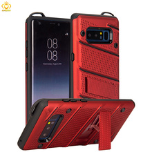 for Samsung Galaxy Note 8 case shockproof TPU PC 2 in 1 dual layer heavy duty defender armor cover with kickstand