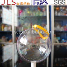 Clear Christmas Ornament plastic balls for chewing gum packaging