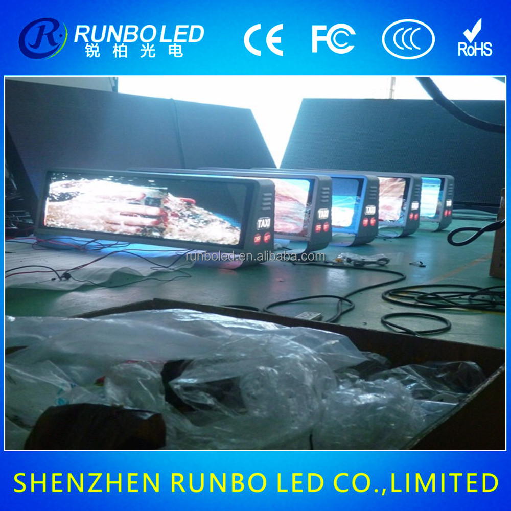 China Supplier LED Taxi Top Screen for Advertising