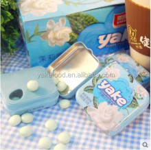 Mint candy with tin box