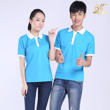 New Design High Quality Polo Neck Plain Customized 65 Polyester 35 Cotton T shirt Polo