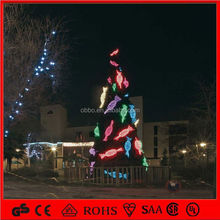 3D LED crystal tree+gift box christmas light decoration Outdoor