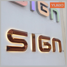 SS backlit rose golden color company introduction letter