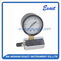 Air testing gauge with chromed mount , mechanical bourdon tube