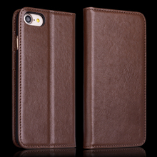 Italian Cowhide Wallet Cover for Apple Iphone 7 Genuine Leather Case