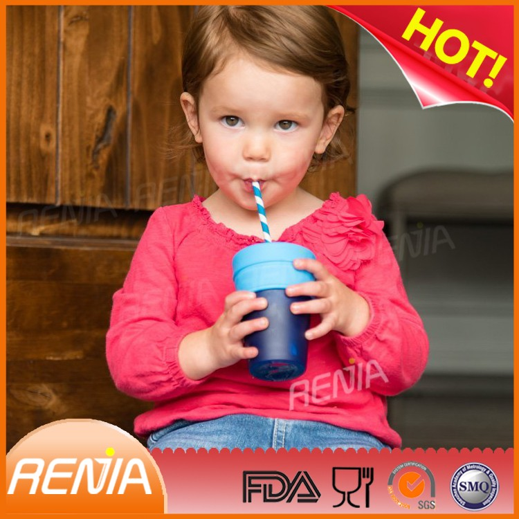 RENJIA Silicone Sippy Lids Converts any Cup or Glass to a Sippy Cup Makes Drinks Spillproof
