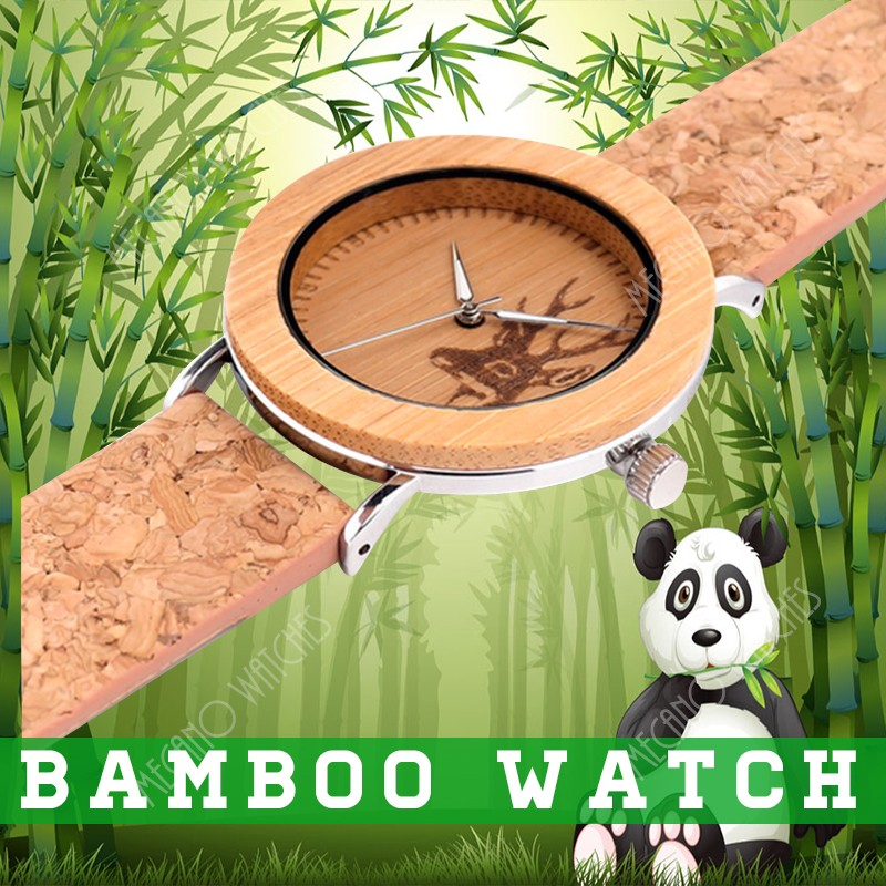 Alibaba hot sale wooden watch luxury bamboo men watches sandalwood big dial watches