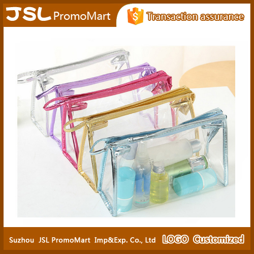 Promotional gifts clear transparent waterproof cosmetic bag cosmetics makeup bag travel
