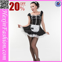 Wholesale M-XXL Black&White French Maid Costume