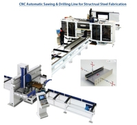 cnc automatic sawing and drilling line for structrual steel fabrication