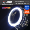 factory price universal multi color full circular and semi circular cob led 12V angel eyes ring light