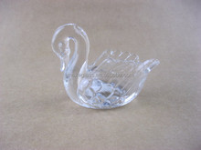 swan shaped glass candle holder , Votive glass , glassware