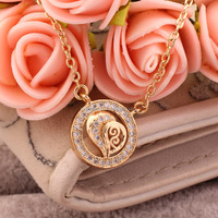 Jewellery pendant 18k saudi gold jewelry,simple gold plated heart pendant necklace designs for best friend