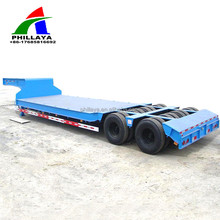 4 axle lines goose neck removable dolly haulage low-bed trailer with rigid suspension