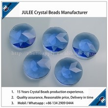 Glass Blue color round button jewelry sofa crystal button
