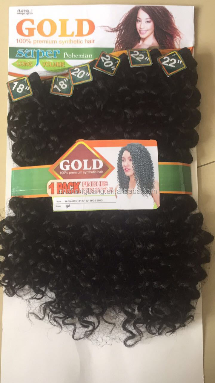"noble gold synthetic weave original brand Super bohemian 18"" 20"" 22"" 200gr 6 in ONE"