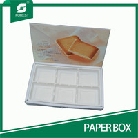 FANCY DESIGN CHIPBOARD RECYCLED PAPER BOX CANDY PACKAGING BOX WITH PLASTIC TRAY