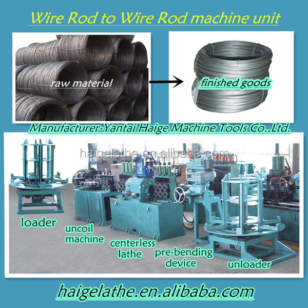 machine condition new lathe tools for peeling & straightening metal tube production line