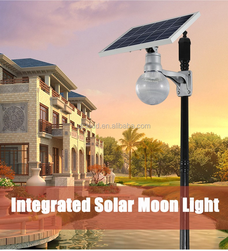 Finely manufacture 9w solar led garden light