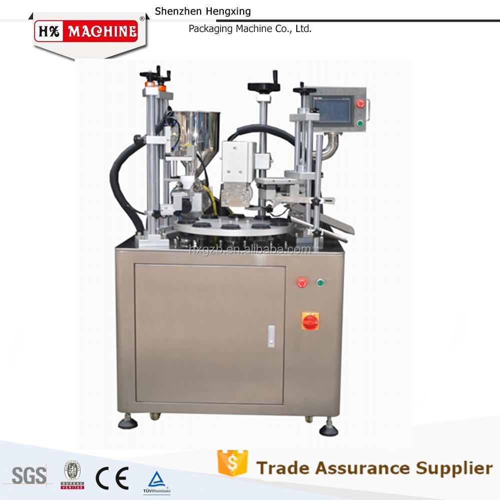 Auto Cosmetic Cream Filling& Sealing Machine,Soft Tube Fill&Sealing,Packing Machine