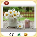 BES Gift Candle LED Canvas Flower Picture For Wall