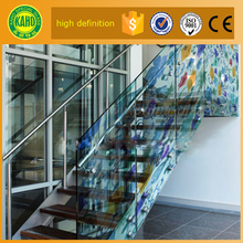 The newest DIY low price Tempered Frameless digital printed on glass balcony railing panels suppliers