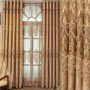 Manual Window Fabric Curtains for the Living Room
