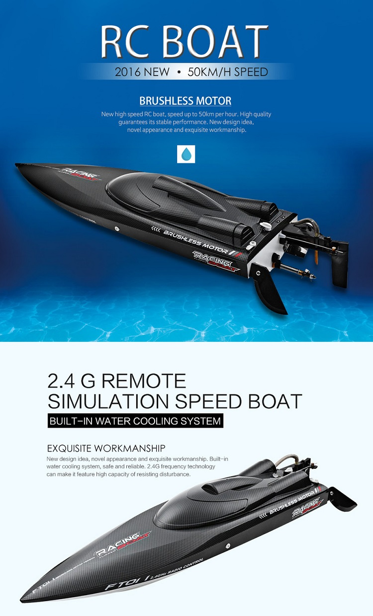 FT011 2.4G High Speed Racing boat Brushless RC Toys For Sell