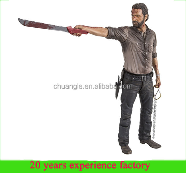custom Rick Grimes the walking dead figure wholesale walking dead action figure