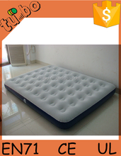 Inflatable Single/Double Flocked Air Bed /Camping Relax Mattress With Pump