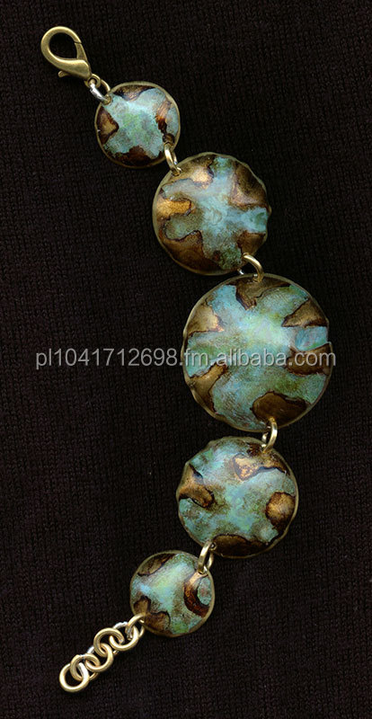 Bracelet beautiful handmade jewellery brass patina