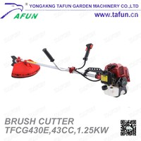 43cc 1.25kw two stroke single cylinder gas powered brush cutter (TFCG430E)