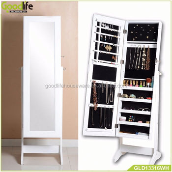 Hot selling wooden mirror jewelry cabinet groupon in canada
