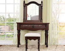 F51005A-1American 5 star hotel dresser furniture mirrored dressing table designs with cheap price