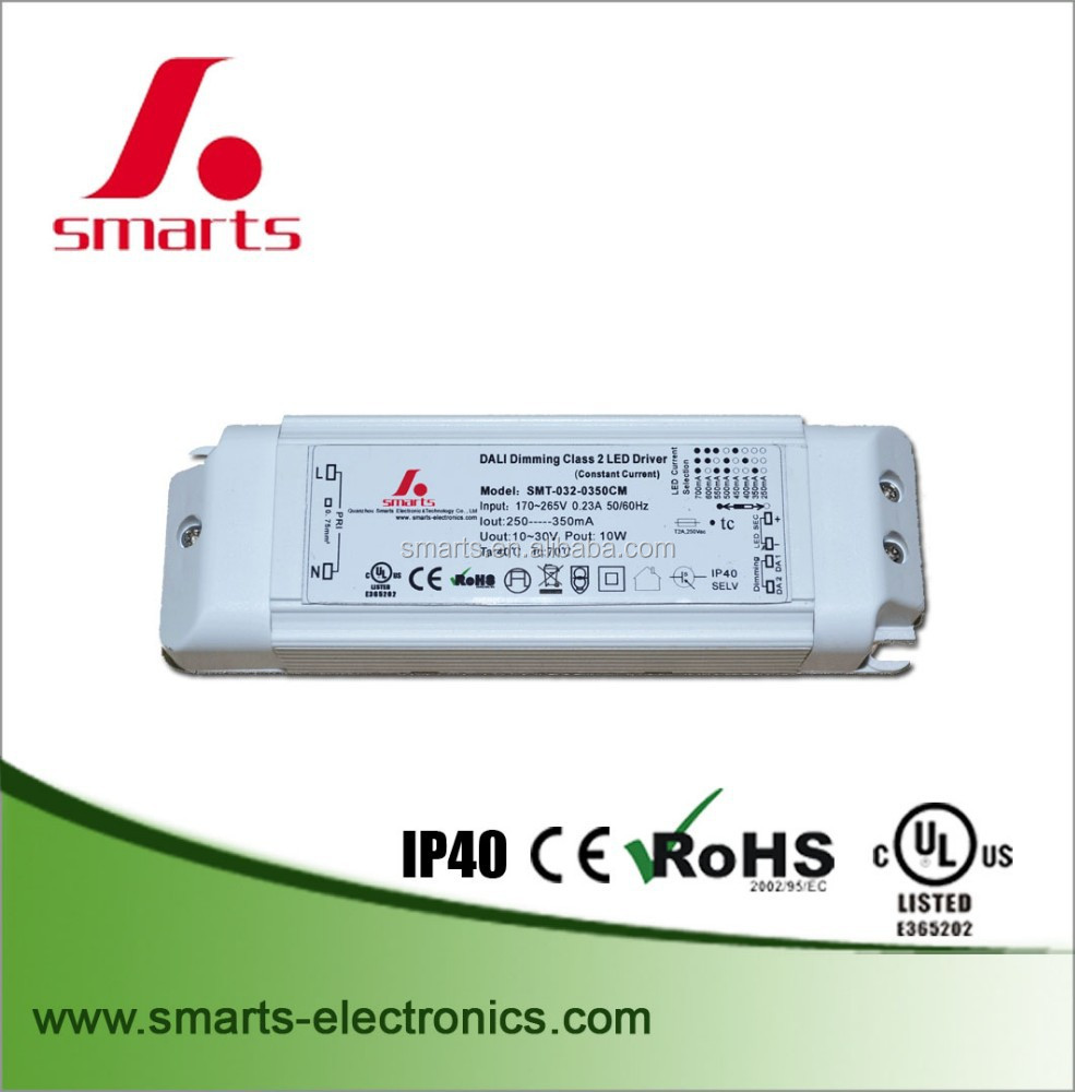 30W 350ma Single output DALI Dimmable constant current LED Driver IP40