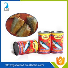 2016 best quality canned fish mackerel in tomato sauce