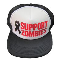 Support Zombies Fancy 5 Panels Custom Logo Flat Bill Silkscreen Printing Snapback Cap and Hat with Plastic Buckle