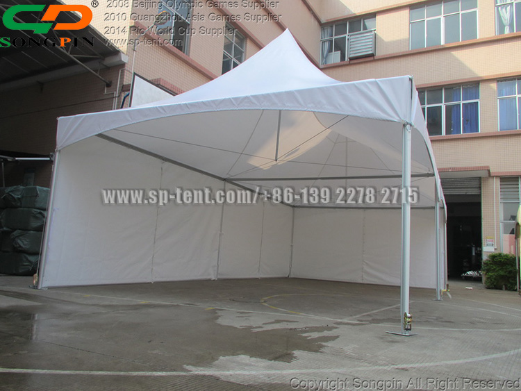 5x10m Promo easy up white double top tension high peak tent house with transparent pvc window