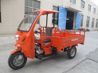 Motor Tricycle Pedal/Gas with Cabin/Front Half Closed Body