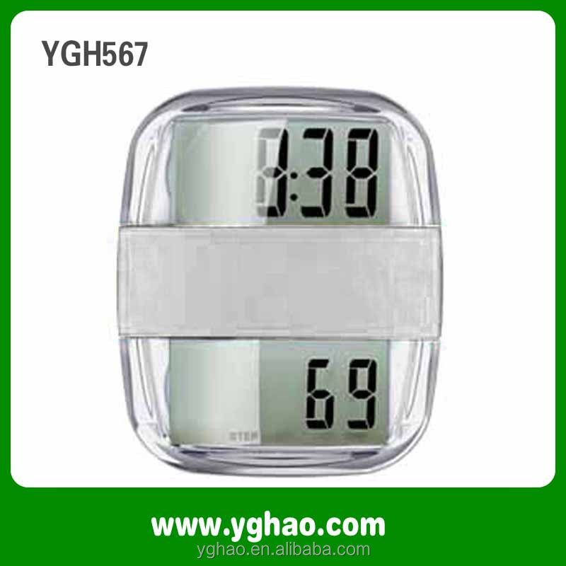 Dual LCD digital radio calorie pedometer with clock and stopwatch