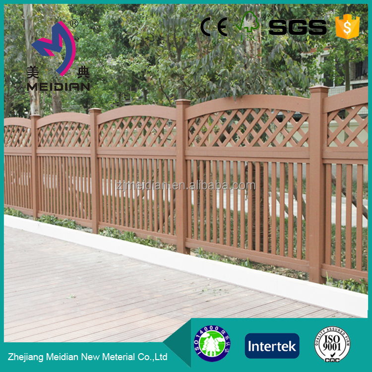 Weather resistant Dampproof wpc wooden roll fence